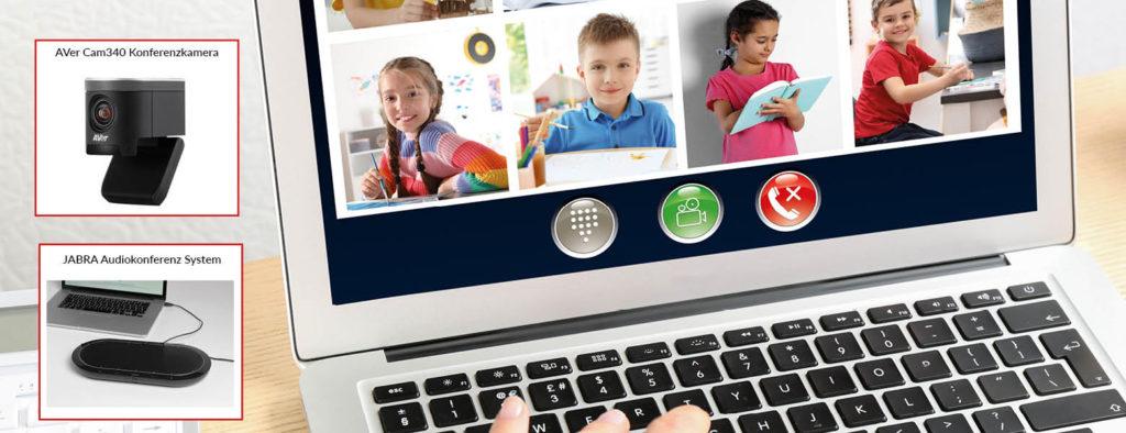 Basisausstattung für den Online-Unterricht an Schulen