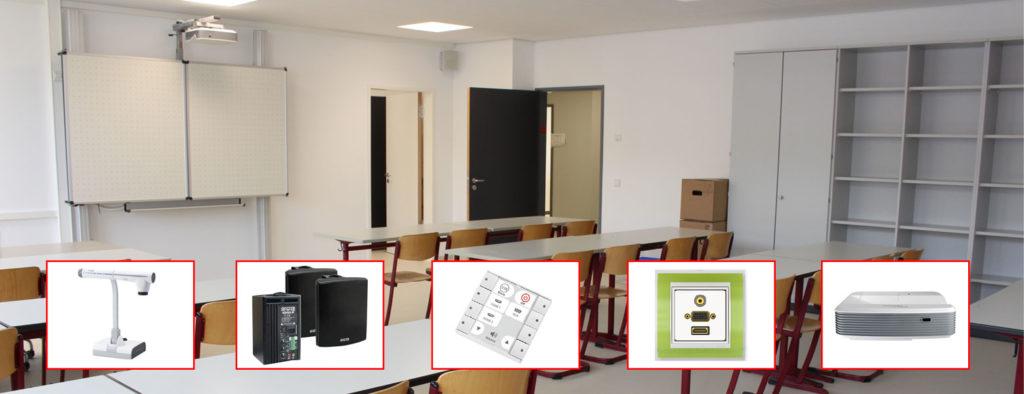 Realschule Remshalden Klassenzimmer mit Produkten